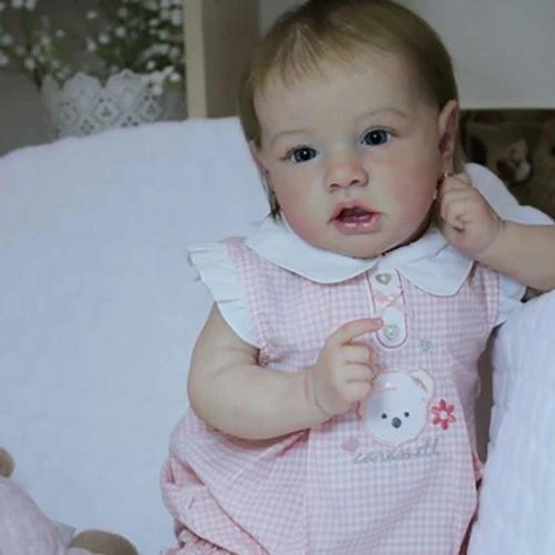 Réaliste Bebe Reborn Fille Reborn poupée bébé Souple 22 Pouces Simulation Nouveau-né Jouet Réalité Fille Cadeau de noël