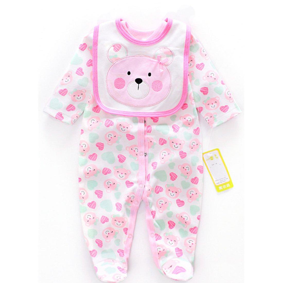 Vêtement Convient pour Les Vêtements de Poupée de 20-22 Pouces, Bébé Reborn Baby Doll, Vêtements Rose