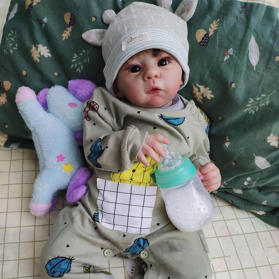 Poupée Reborn 21 Pouces Réaliste Bebe Reborn Réaliste Lifelike Mignon Nouveau-né Reborn Baby Dolls Garçon Fille Jouets