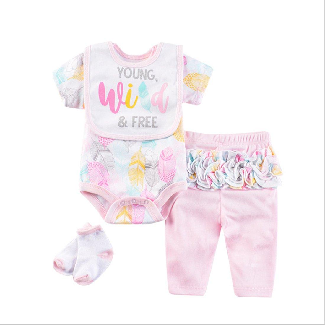 Vêtement Convient pour Les Vêtements de Poupée de 20-22 Pouces, Bébé Reborn Baby Doll, Motif de feuilles