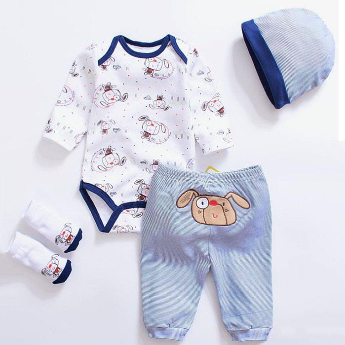 Vêtement Convient pour Les Vêtements de Poupée de 20-22 Pouces, Bébé Reborn Baby Doll, 4 en 1 Vêtements