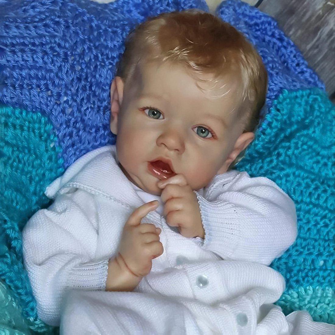 Réaliste Bebe Reborn Poupée bébé Souple 22 Pouces Lifelike Mignon Nouveau-né Reborn Baby Dolls Garçon Fille Jouets