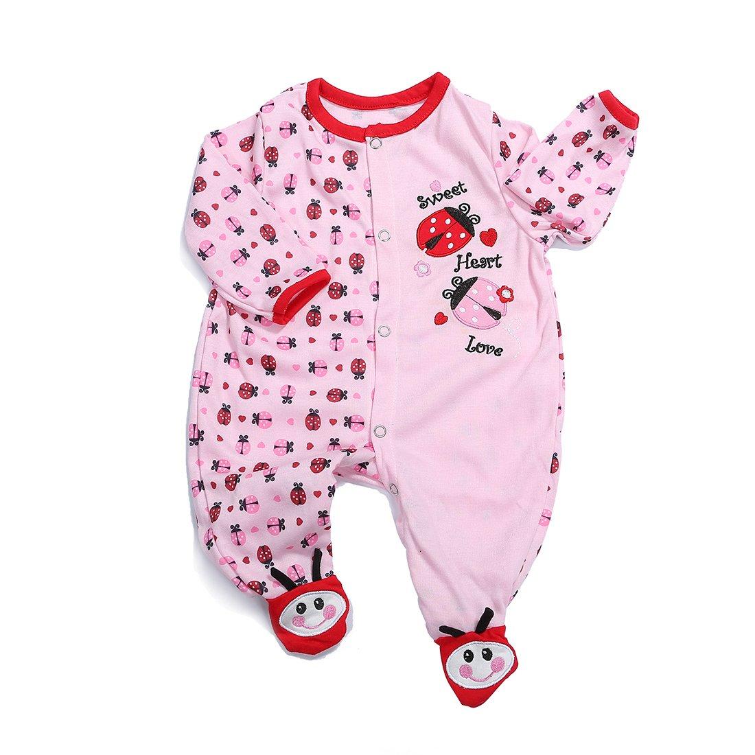 Vêtement Convient pour Les Vêtements de Poupée de 20-22 Pouces, Bébé Reborn Baby Doll - Petit motif de scarabée Vêtement