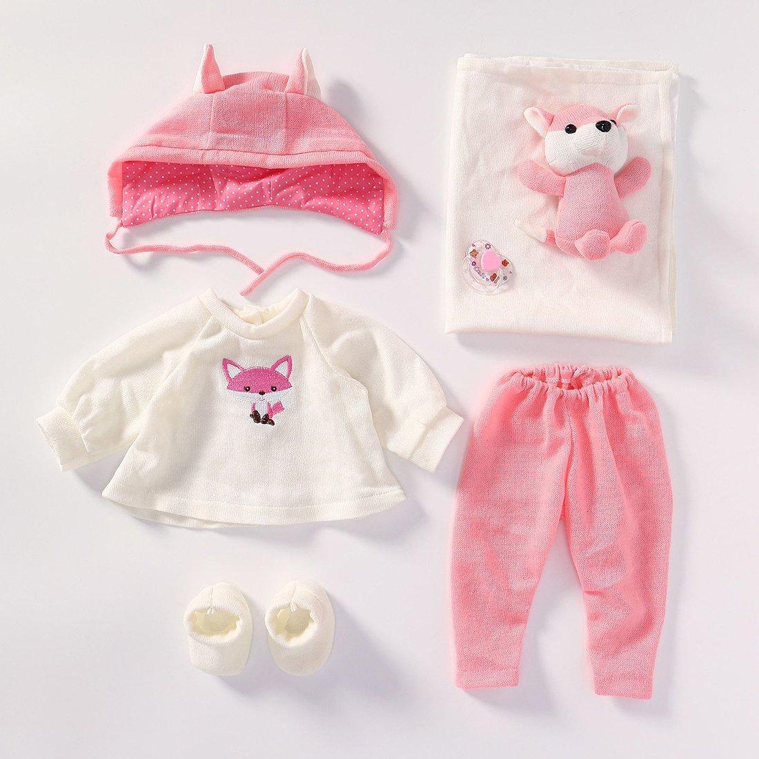 Vêtement Convient pour Les Vêtements de Poupée de 20-22 Pouces, Bébé Reborn Baby Doll, Vêtements (6 en 1)