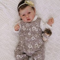 22 Pouces Réaliste Bebe Reborn Fille Reborn poupée bébé Souple Simulation Nouveau-né Jouet Réalité Fille Cadeau de noël