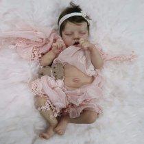 17 Pouces Poupée Reborn réaliste poupée bébé fille Souple Cadeau de filles Compagnon de jeu