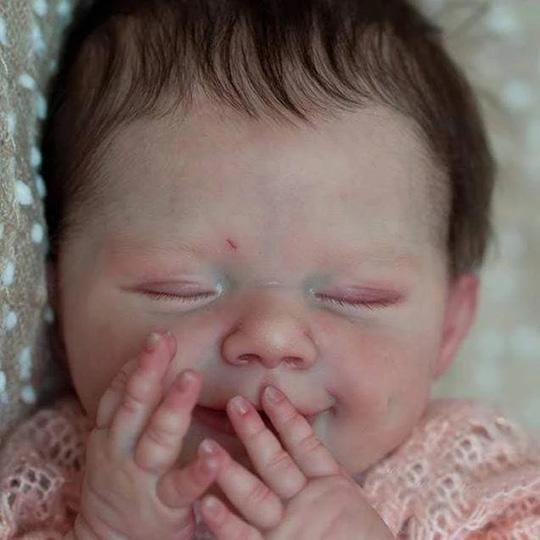 Réaliste Bebe Reborn Poupée bébé Souple 20 Pouces Lifelike Mignon Nouveau-né Reborn Baby Dolls Garçon Fille Jouets