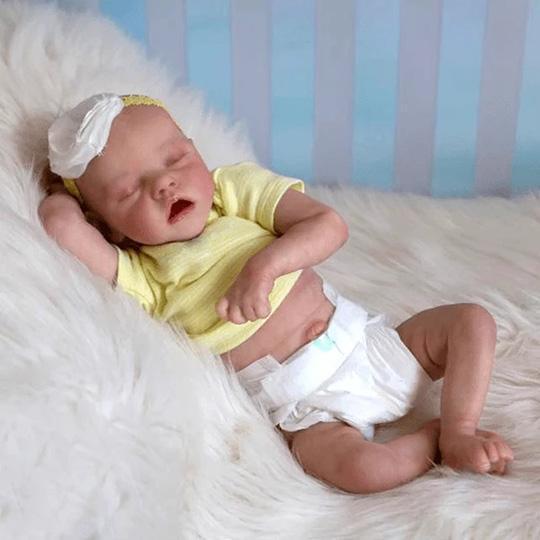 Reborn Poupée bébé Belle Lifelike Mignon Poupées, Reborn bébé 17 Pouces Magnétique Bouche Lifelike Fille, Bébé Poupée Playmate Cadeau