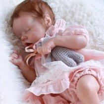 Poupée 17 Pouces 43CM Reborn réaliste poupée bébé fille Souple Cadeau de filles Compagnon de jeu
