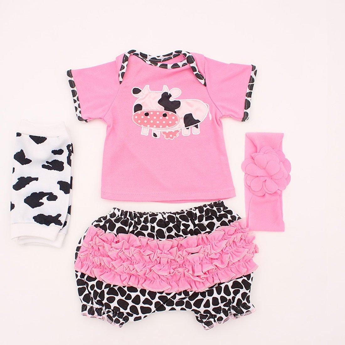 Vêtement Convient pour Les Vêtements de Poupée de 20-22 Pouces, Bébé Reborn Baby Doll - 4 en 1 Vêtements