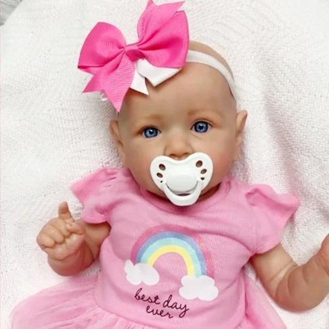 22 Pouces Poupée Reborn Fille Fait Main Réaliste Tout-petitBébé Nouveauné Cadeau d'anniversaire