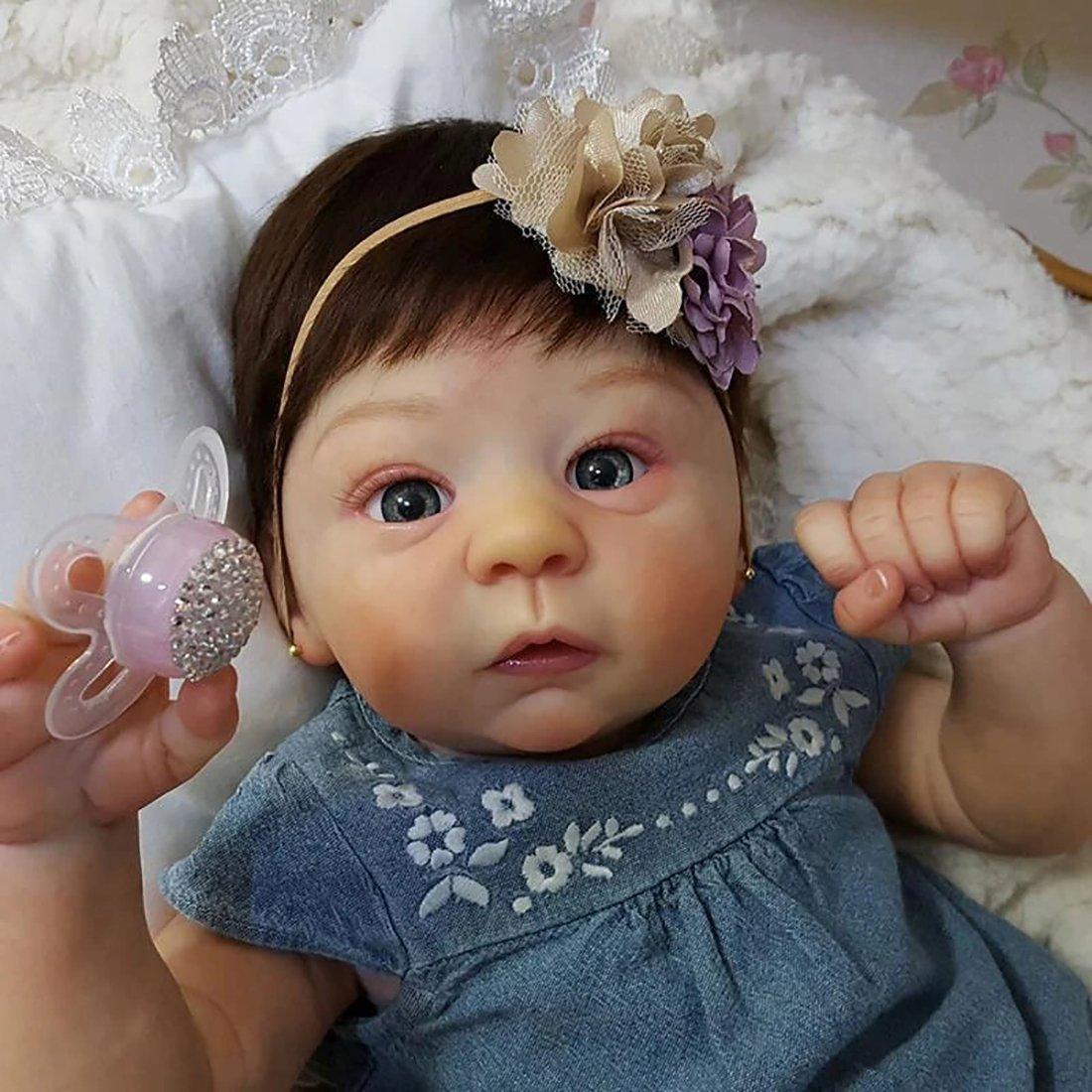 21 Pouces Mignon Corps Reborn Baby Poupées Look Real Collection Nouveau-Né Poupée pour Fille