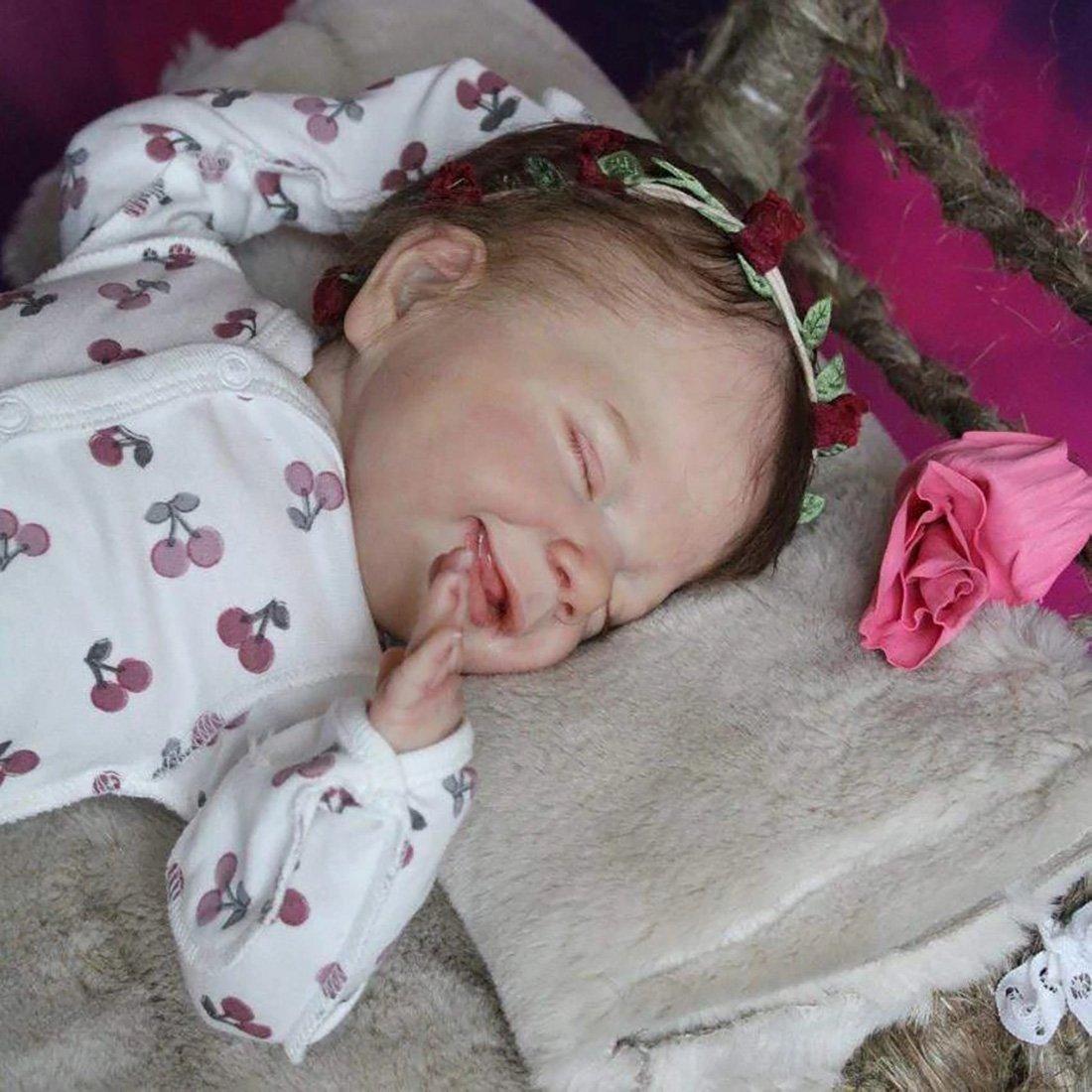 Poupée Reborn 20 Pouces Réaliste Bebe Reborn Réaliste Lifelike Mignon Nouveau-né Reborn Baby Dolls Garçon Fille Jouets
