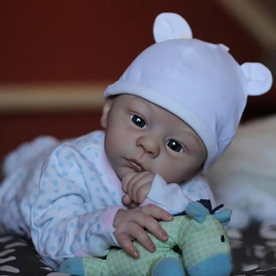 Réaliste Bebe Reborn Fille Reborn poupée bébé Souple 21 Pouces Simulation Nouveau-né Jouet Réalité Fille Cadeau de noël