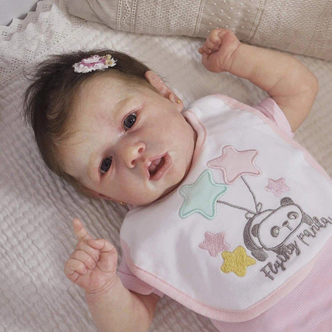 22 Pouces Mignon Corps Reborn Baby Poupées Look Real Collection Nouveau-Né Poupée pour Fille