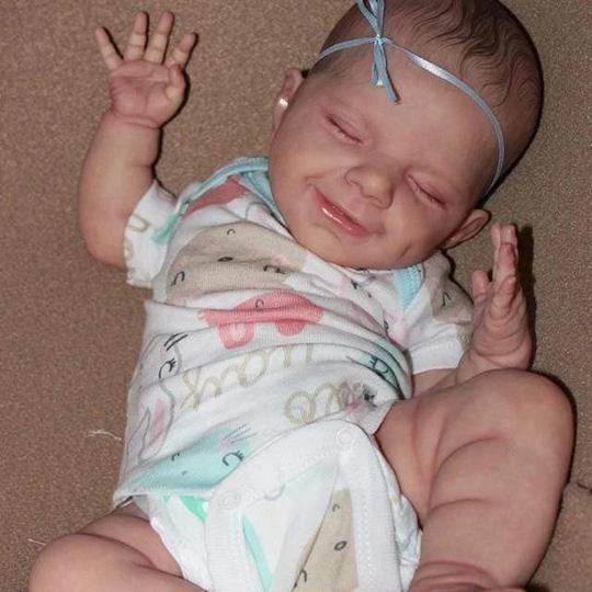 Reborn Poupée bébé Belle Lifelike Mignon Poupées, Reborn bébé 20 Pouces Magnétique Bouche Lifelike Fille, Bébé Poupée Playmate Cadeau