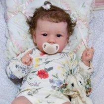 22 Pouces Réaliste Bebe Reborn Poupée bébé Souple Lifelike Mignon Nouveau-né Reborn Baby Dolls Garçon Fille Jouets
