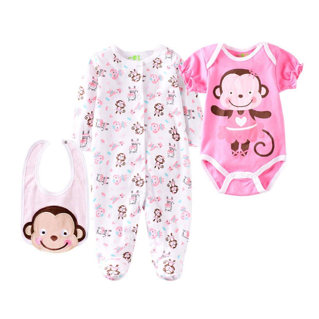 Vêtement Convient pour Les Vêtements de Poupée de 20-22 Pouces, Bébé Reborn Baby Doll, Vêtements avec Petit motif de singe