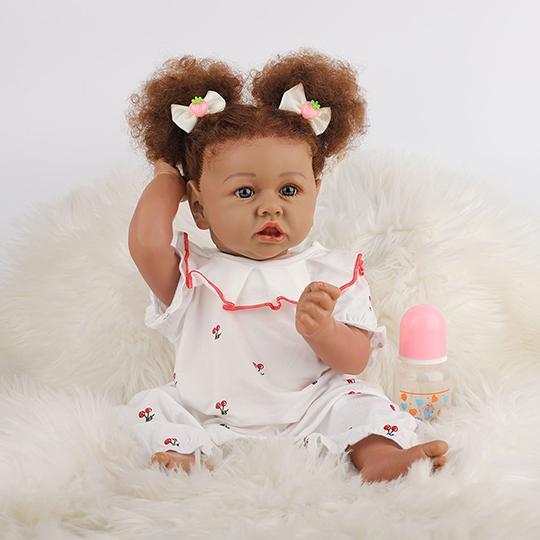 Réaliste Bebe Reborn poupée bébé Vinyle de Silicone Souple 23 Pouces Lifelike Mignon Nouveau-né Reborn Baby Dolls Garçon Fille Jouets