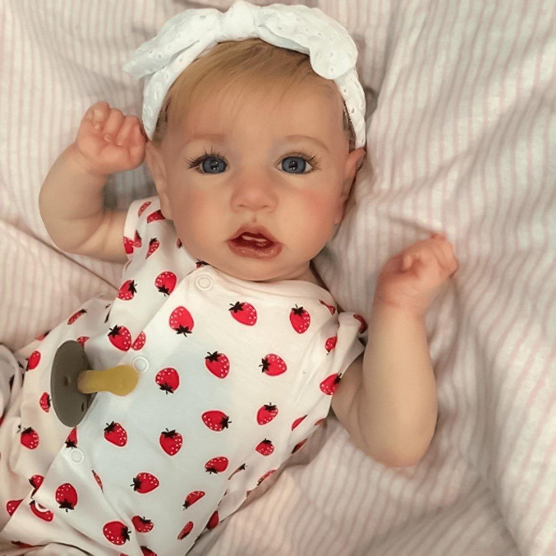 22 Pouces Réaliste Mignon Corps Reborn Baby Poupées Look Real Collection Nouveau-Né Poupée pour Fille