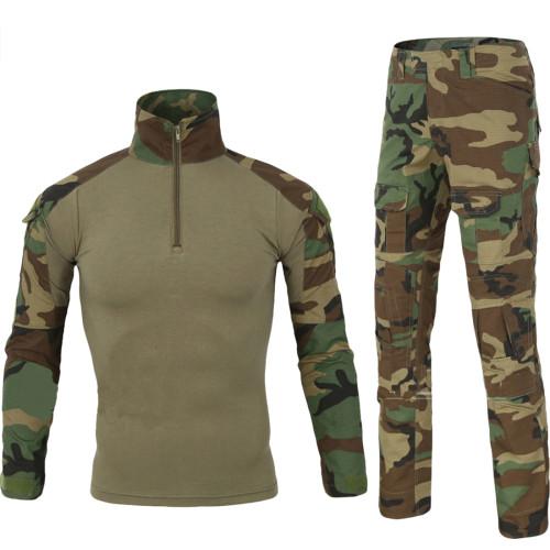 ESDY Dress Hunting Battle Uniform Suit Shirt - Pants Combat Uniform BDU - Jungle Camouflage XXL