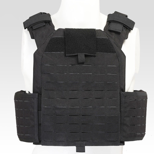 Military Plate Carrier Quick Release Tactical Vest Cordura Modular Combat Vest - Black