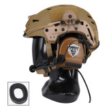 FCS C3 Headset COMTAC3 Pickup Noise Reduction Headphone Tactical Headset - Tan Silicone Version
