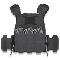 UTA Universal Plate Carrier Armor Lightweight Tactical Vest - Black fireproof Type