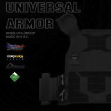 UTA Universal Plate Carrier Armor Lightweight Tactical Vest - Black fireproof Type