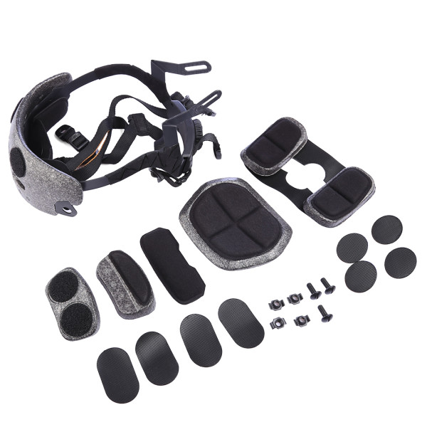 FMA Adjustable Helmet Liner with Pads - Black