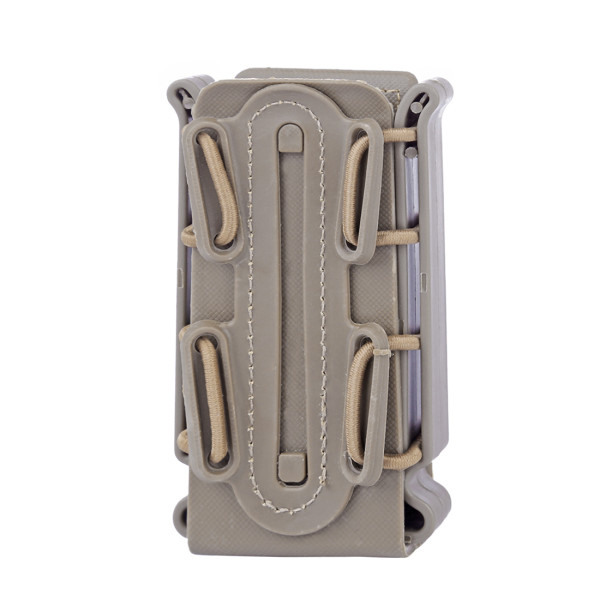 3pcs WST Flexible TPR Scorpion Mag Pouch Fast Mag for 9mm Luger/.45 ACP Mag - Tan