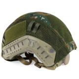 WST Updated Version Camouflage Helmet Cover for FAST Tactics Helmet - Jungle Python Grain Type