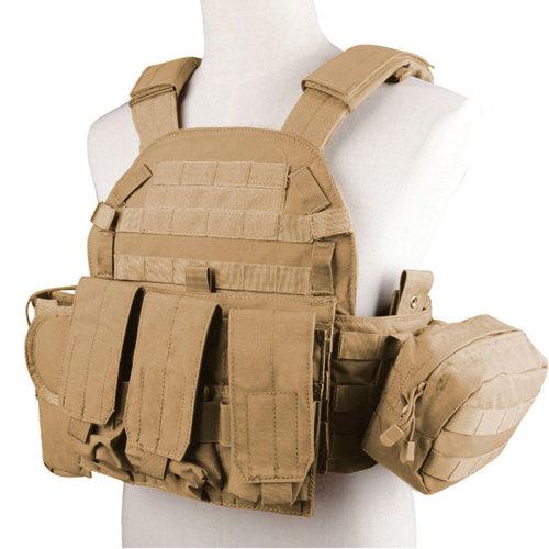 Outdoor Equipment Tactical Vest Adjustable Splashproof Vest - CB