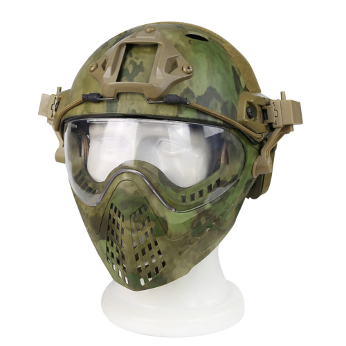WST Navigator Tactics Camouflage Protecting Helmet for Outdoors Activities - FG Type M