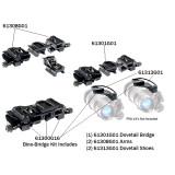 SOTAC PVS-14 Dovetail Adapter for Binocular NVG Bracket - Black