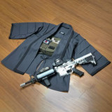 BACRAFT Outdoor Tactical Coat Training Cloak Combat Haori Jacket - Carbon Grey L