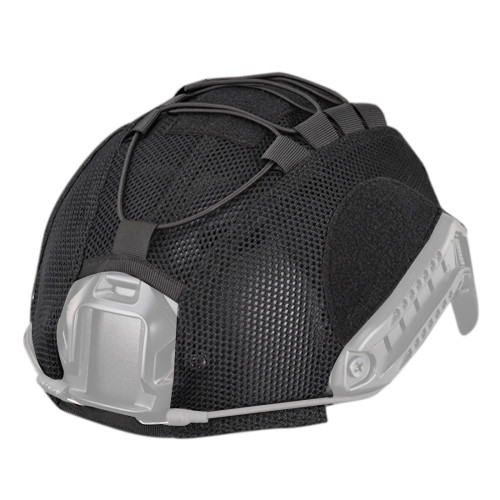 WST Nylon Tactical Paintball Fast Helmet Cover Hunting Shooting Gear without Helmet - Black