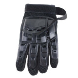 Survivors Military Gloves Rubber Protective Shell Full-finger Gloves for Outdoor Activities - Black M