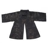 BACRAFT Outdoor Tactical Coat Training Cloak Combat Haori Jacket - MC + Black
