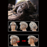 FCS-RAC Pickup Noise Reduction FAST Helmet Tactical Headset - Tan (RAC Headset + Standard PTT)