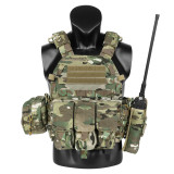 Krydex LBT 6094A Tactical Vest Accessory Kit with Magazine Pouch and Interphone Holder - MC