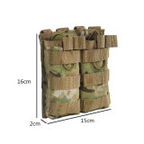 Outdoor Combat Accessories Bag Tactical Double Magazine Pouch for Water Gel Beads Mag - OD