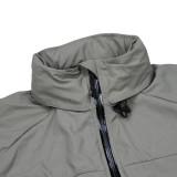 TMC Tactical Cordura Nylon Soft Shell Zipper Coat PCU L5 Wind Coat Jacket - Dark Grey S
