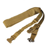 WST Quick Release Buckle Elastic Single Point Function Rope Set - Tan