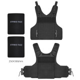 Buffalo Outdoor Laser Cutting Wearproof Plate carrier Tactical Vest - Black