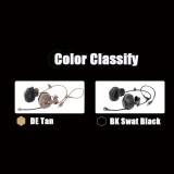 FCS-RAC Pickup Noise Reduction Headphone FAST Helmet Wireless Communication Tactical Headset - Tan Voice Version
