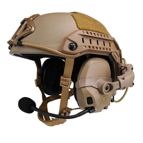 FCS AMP Tactical HeadSet Noise Reduction Military Aviation Communication Head-mounted Headphone