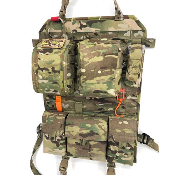 Tactical Style Car Organizer Back Seat Storage Bag - Multicam