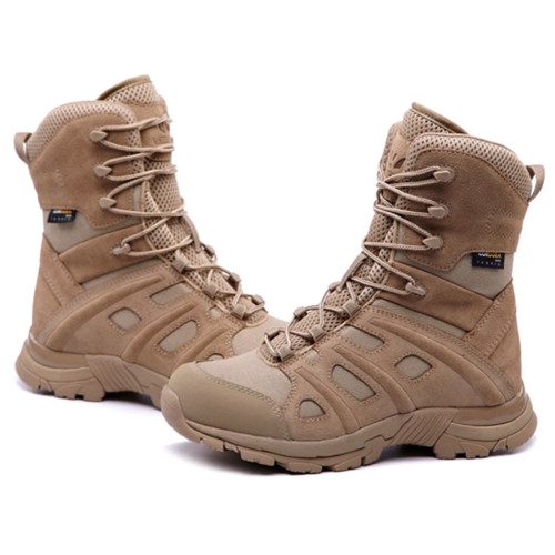 UNITEWIN Anti-piercing Mountain Climbing Tactics Shoes Desert Combat High-top Boots for Outdoor - Tan (EUR 44)