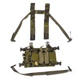 Longrui Light Weight Heavy Duty Utility Training Multi Pocket D3 Carrier Military Chest Rig